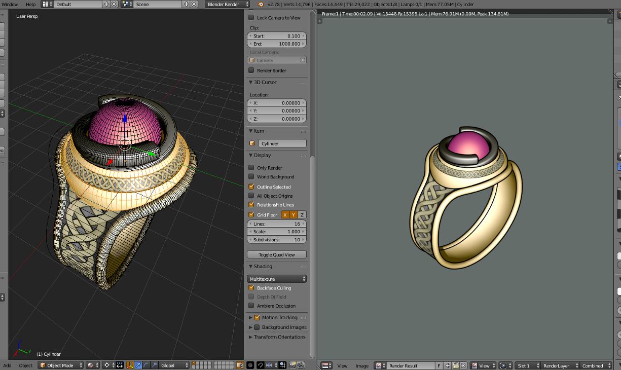 3D Fantasy ring