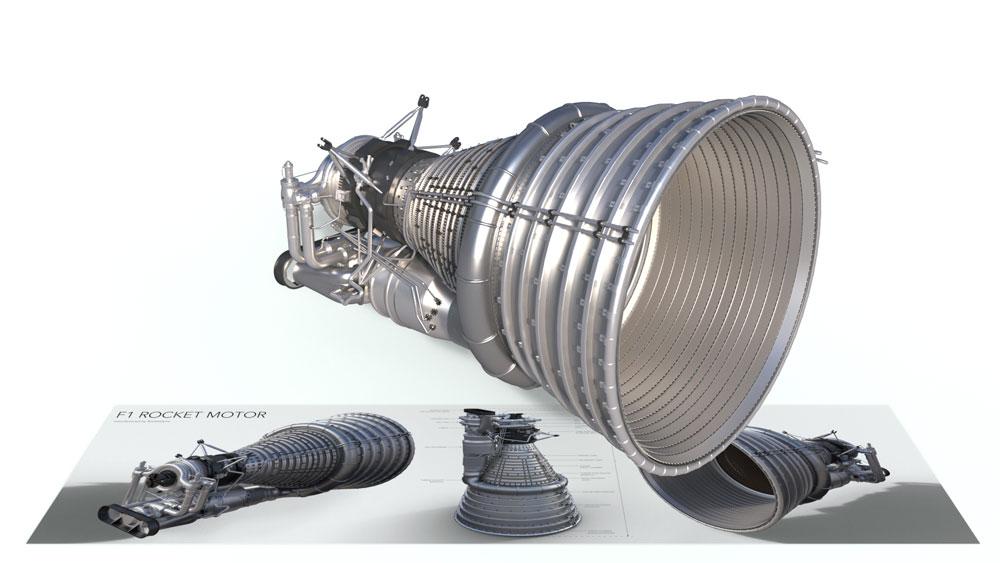 F1 Rocket Motor AR App