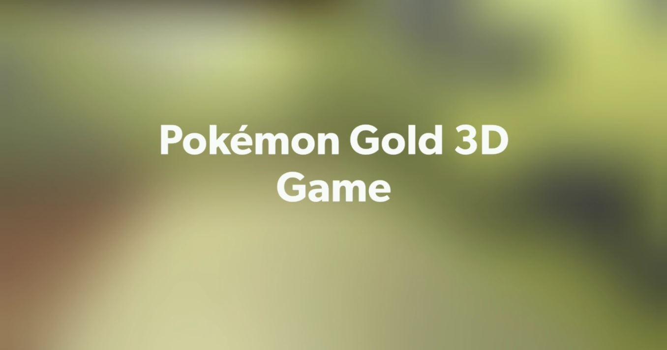 Pokémon 3D Game