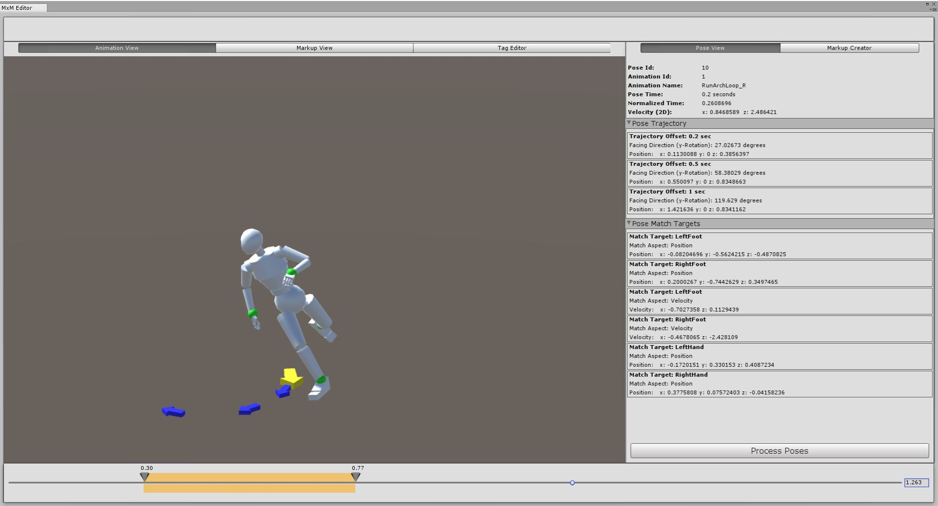 Motion Magic (MxM) Motion Matching Animation System for Unity (WIP)
