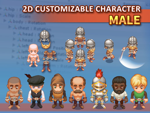 Customizable 2D Character