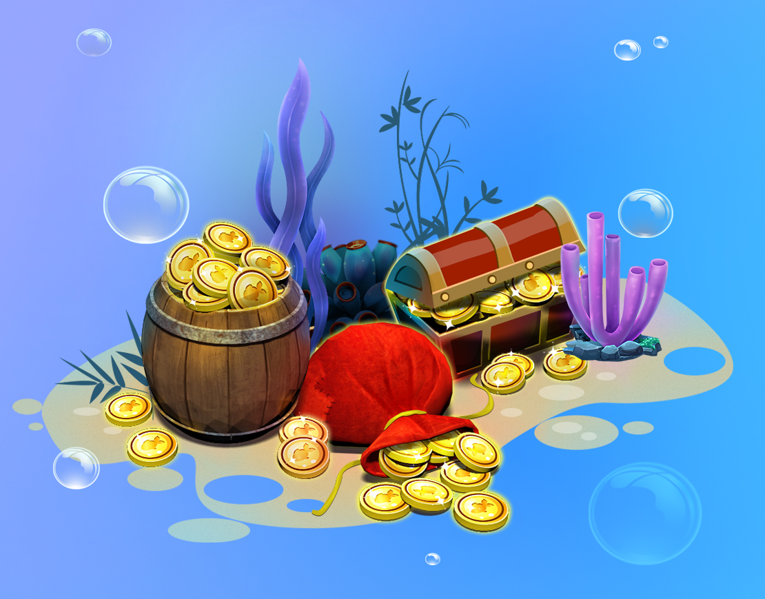 Fish Paradise Game Art Assets