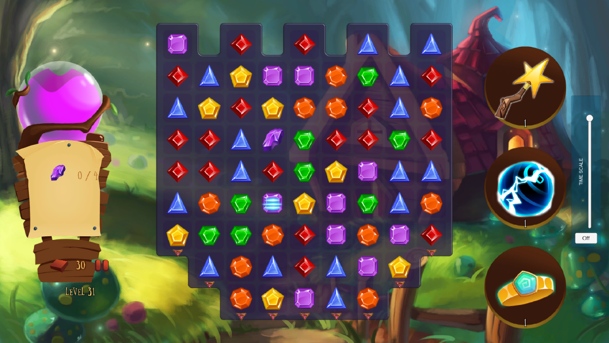 Elisa Jewels / Match-3 Puzzle