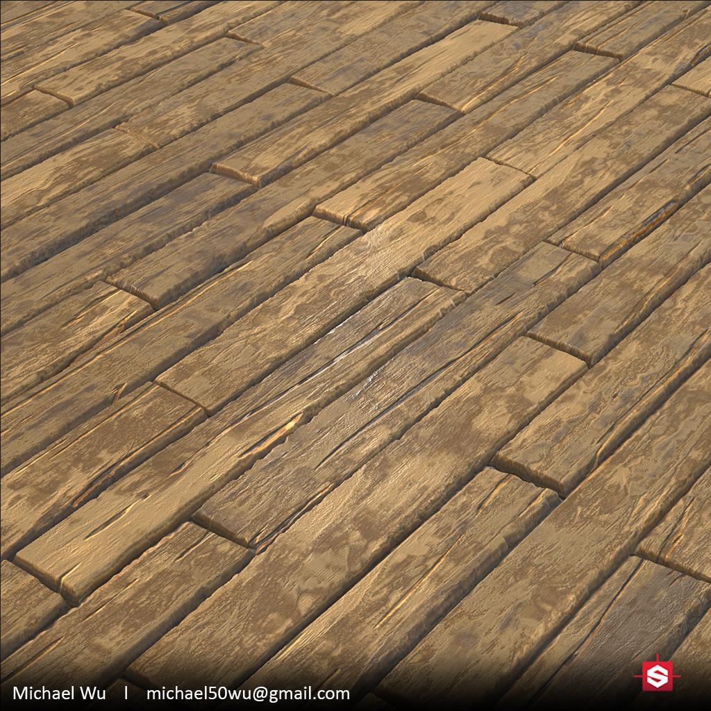 Stylized Wood Plank Floor