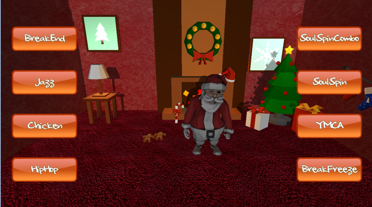 Christmas Dancing Santa Claus