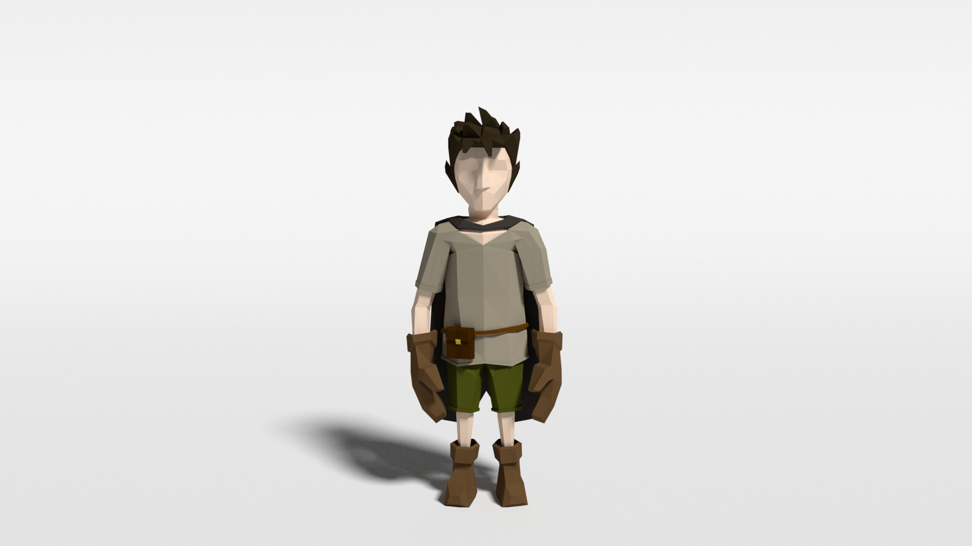 Low poly stylized character concept for Sórtia