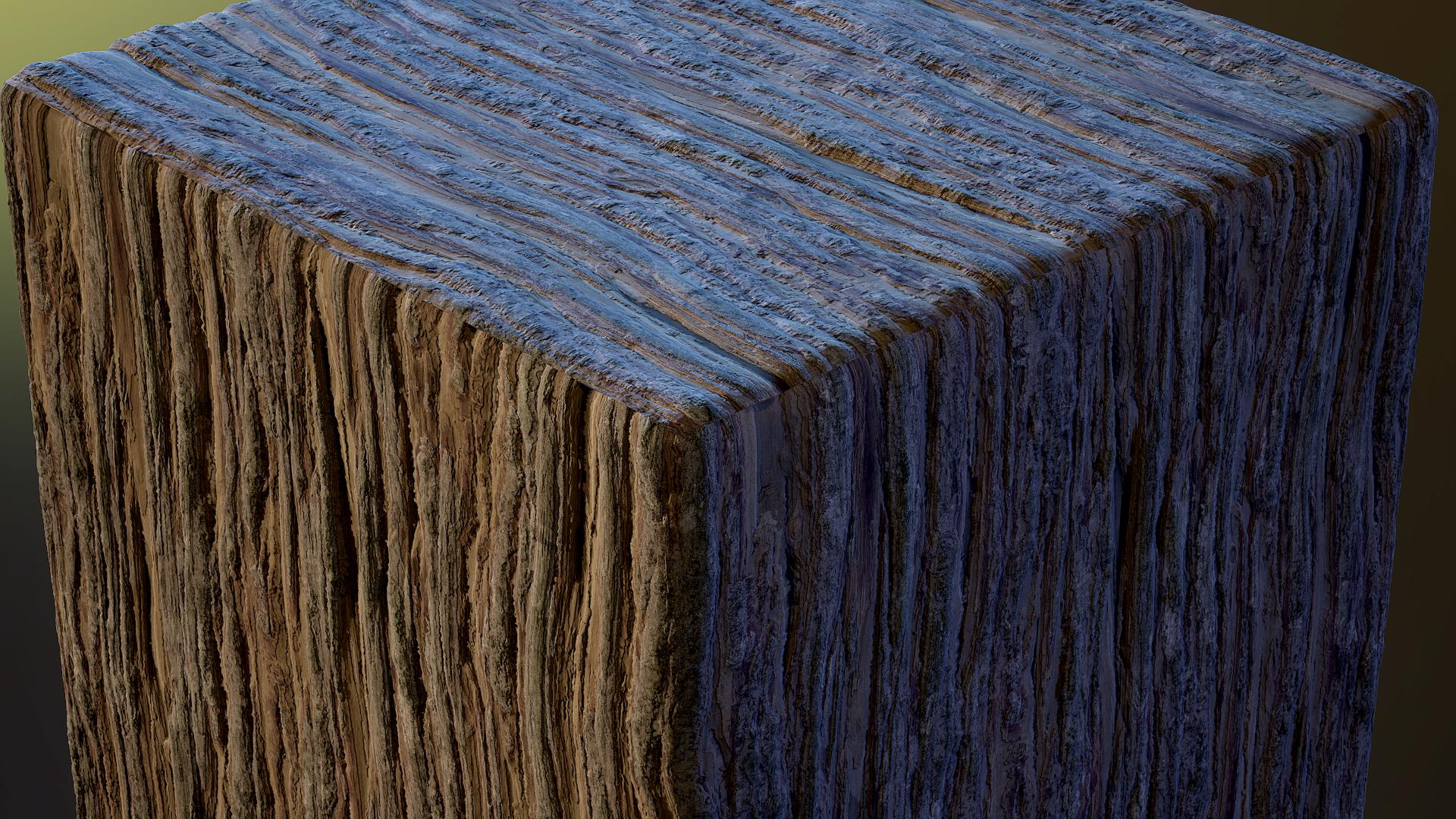 Cypress Bark - Substance Material Tutorial