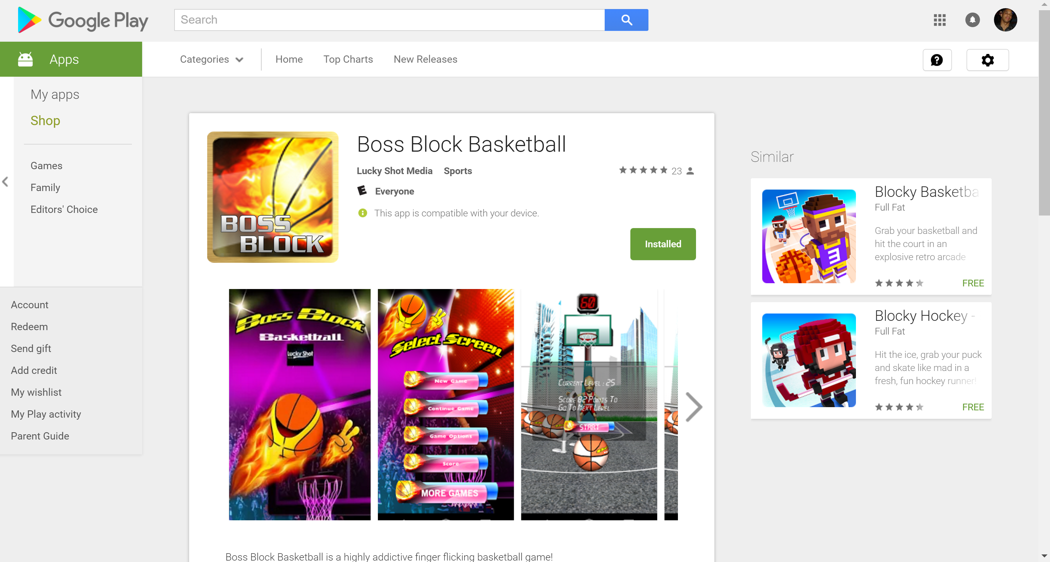 Boss Block Basketball
