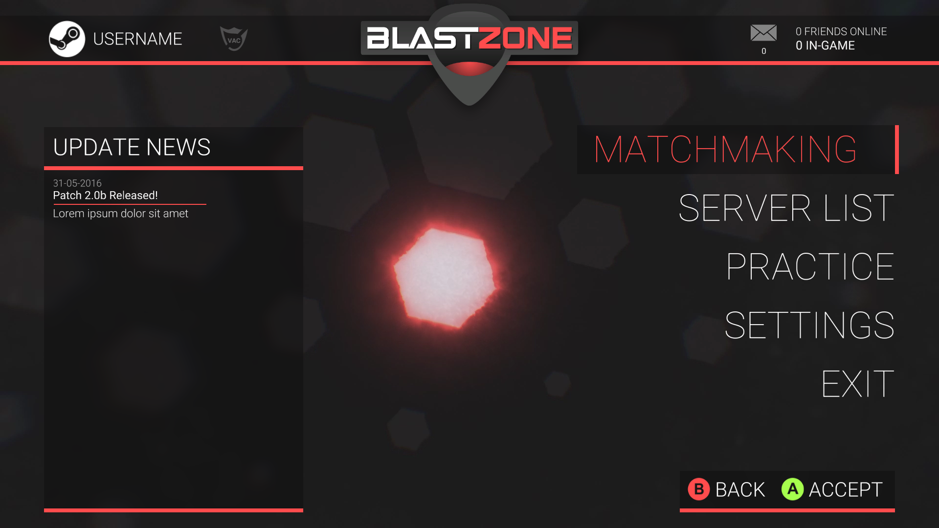 Blastzone - UI & Menus