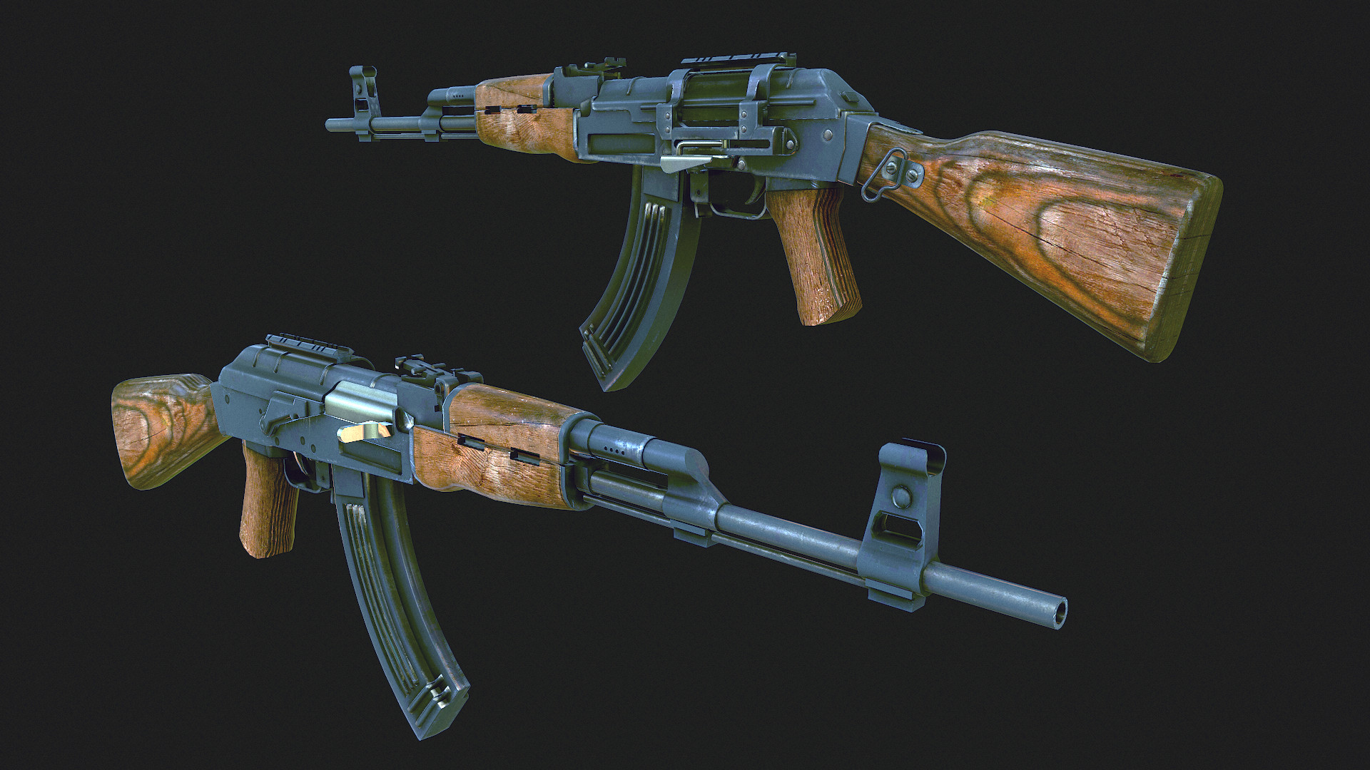 Ak-47 game ready model