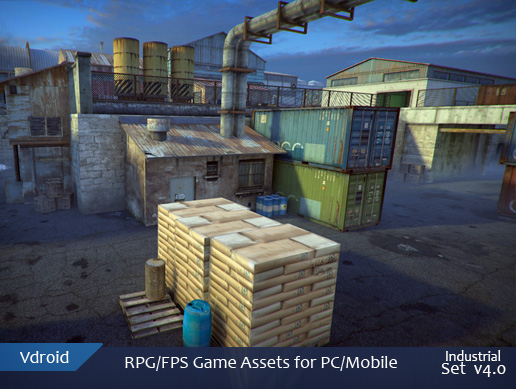 RPG/FPS game assets set v4 industrial ( coming soon on assetstore)