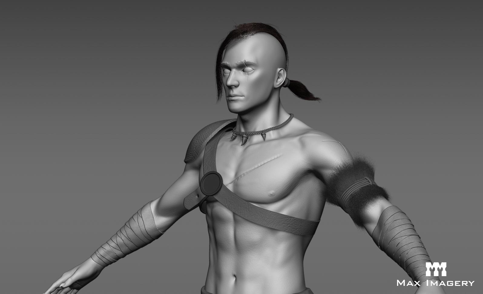 Tribal Character Hi Poly Sculpt