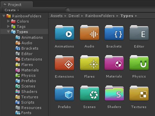 Rainbow Folders