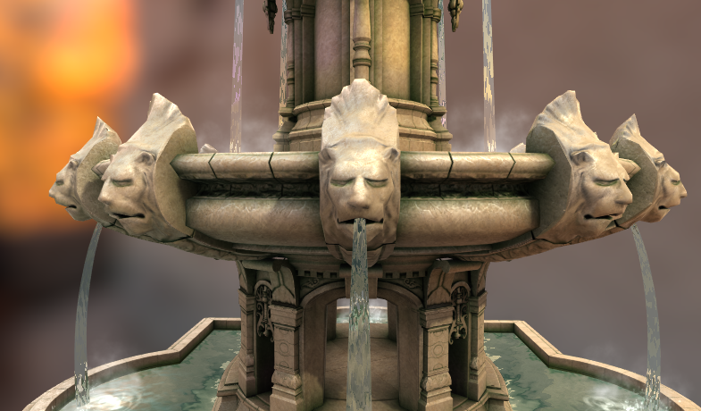 Ancient Fountain - Court of the Lions