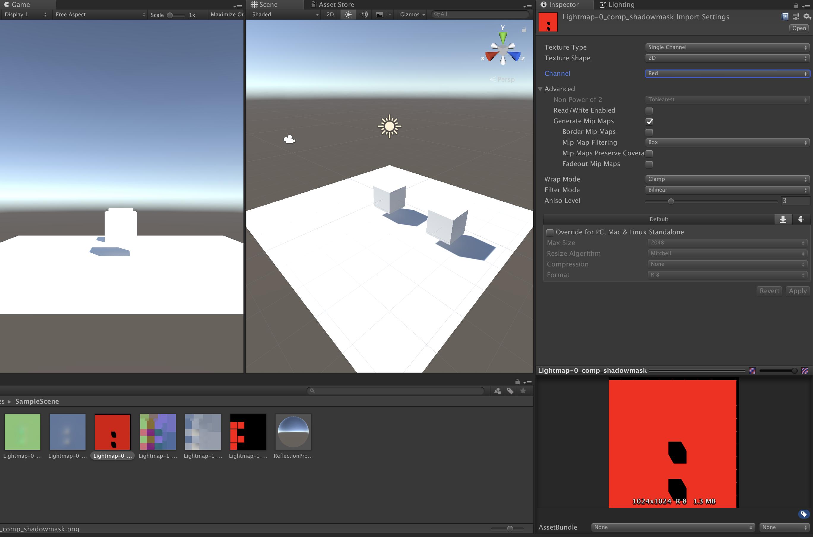 巧妙设置Texture Type,将ShadowMask内存占用变成之前的1/4
