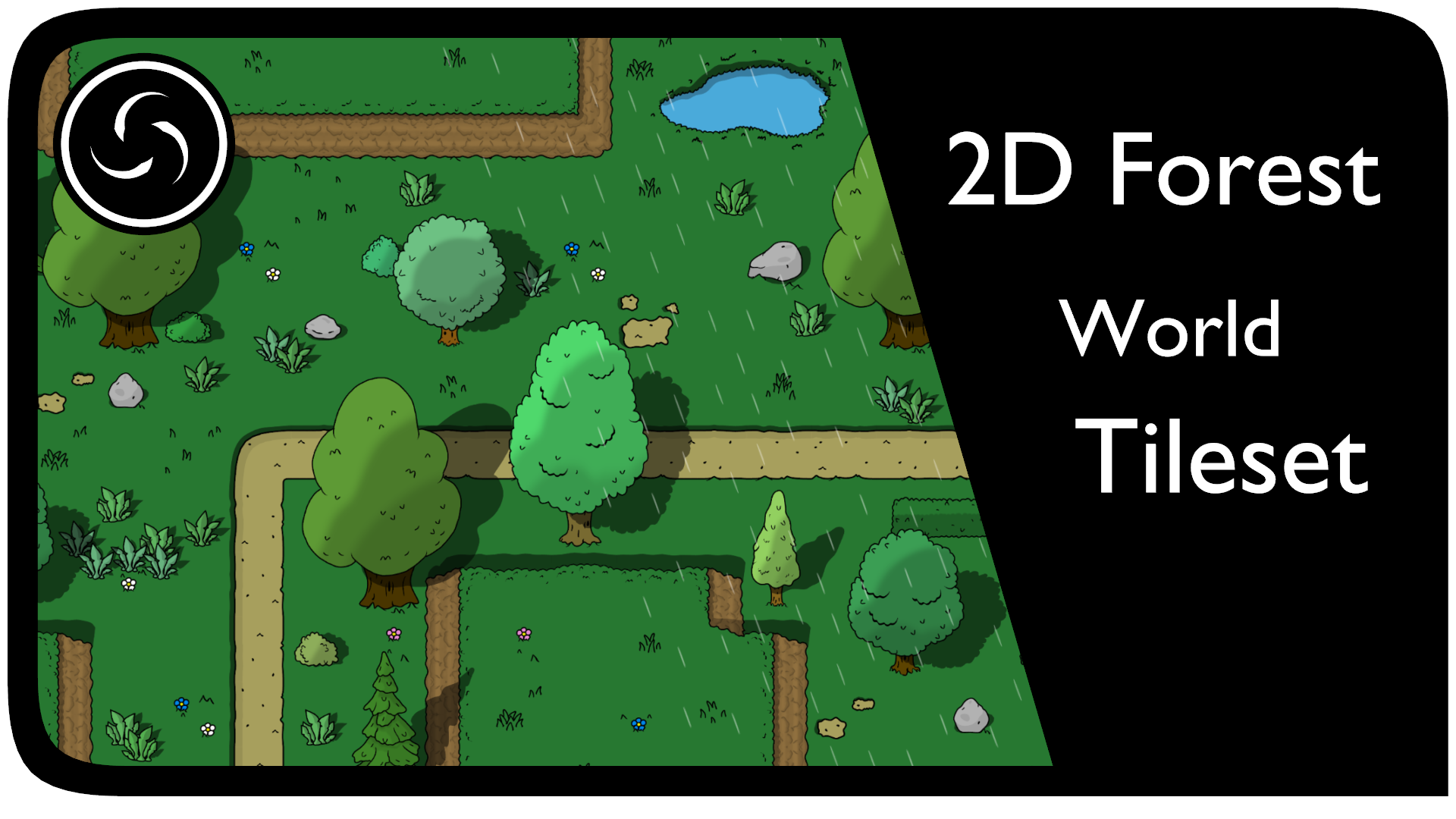 2D Forest World Tileset