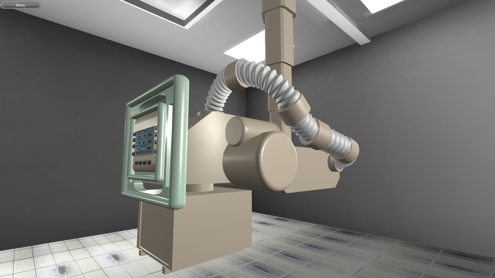 Digital X-Ray Machine Simulation