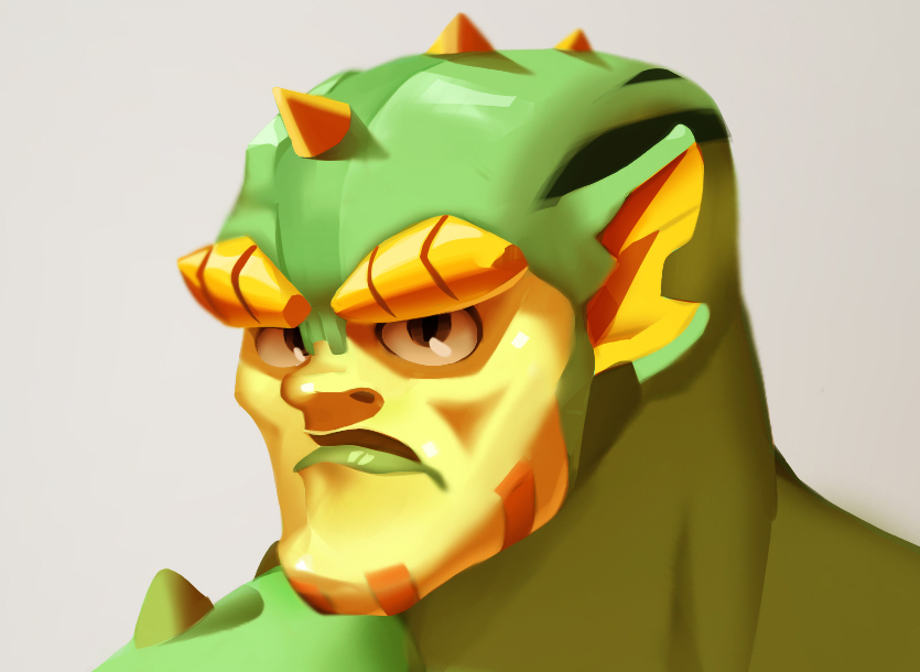 Grid Iron Character Concept Art: Sea People