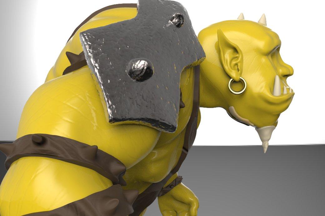 Gronn Orc - 3D Modeling