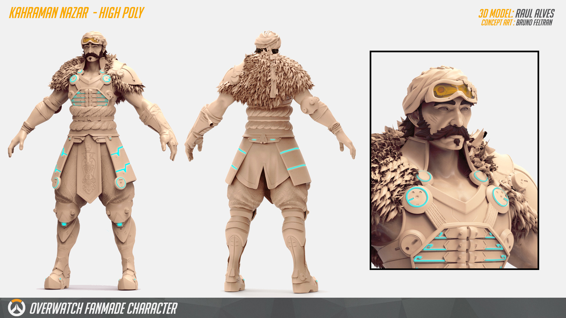 Nazar 3D [Overwatch Fan-made Character_WIP]