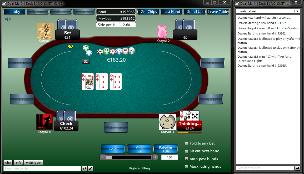 Online Multiplayer Poker (Team International) - version 2