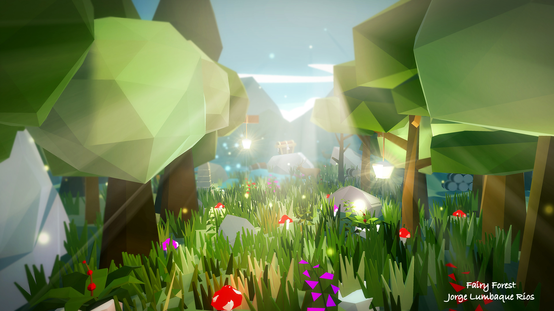 Fairy Forest Low Poly Environment