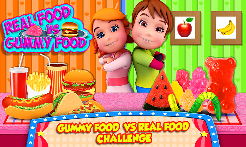 Gummy Food Vs Real Food Challenge Game