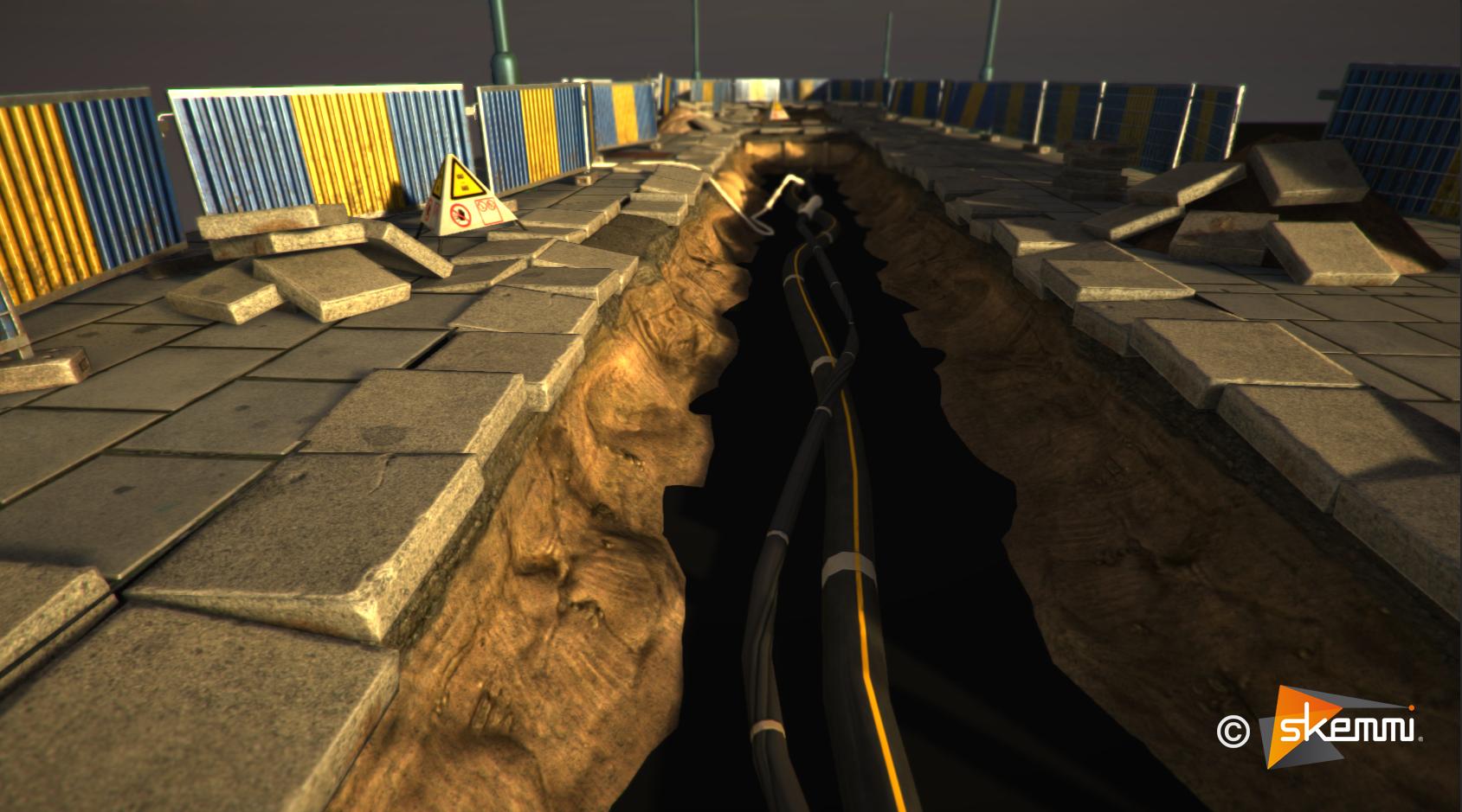 working site environnement (unity 3)