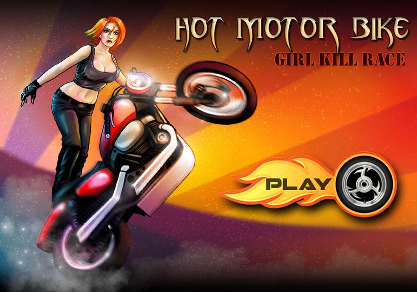 Hot Motorbike Girl Kill Race