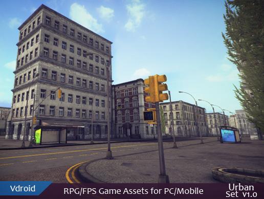 RPG/FPS game assets set v1 urban (available on assetstore)