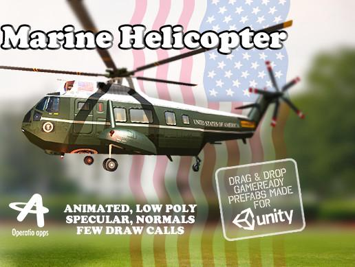 Marine Helicopter (Animated)