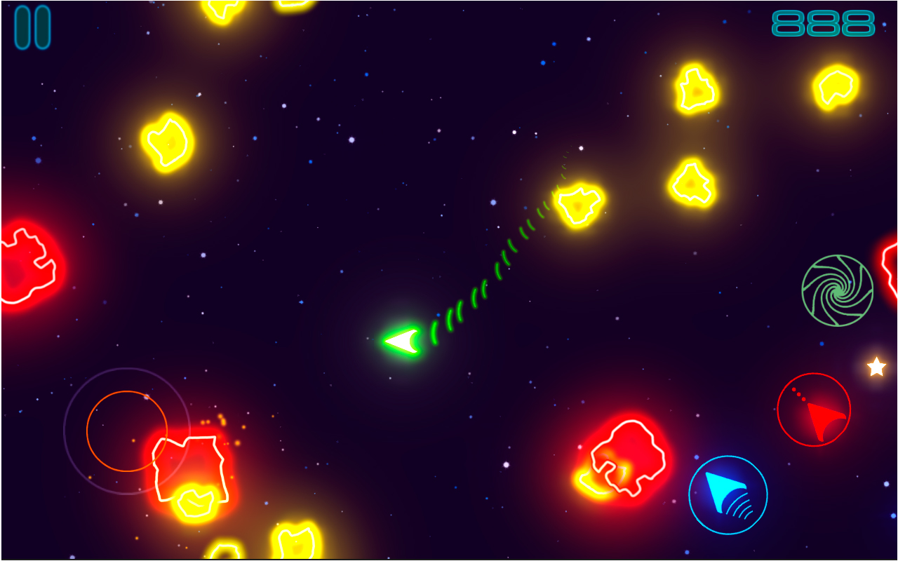 Glow Asteroids