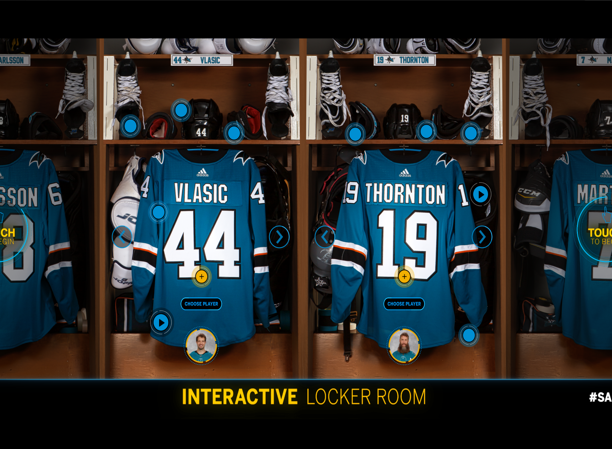 SAP Interactive Locker Room Experience