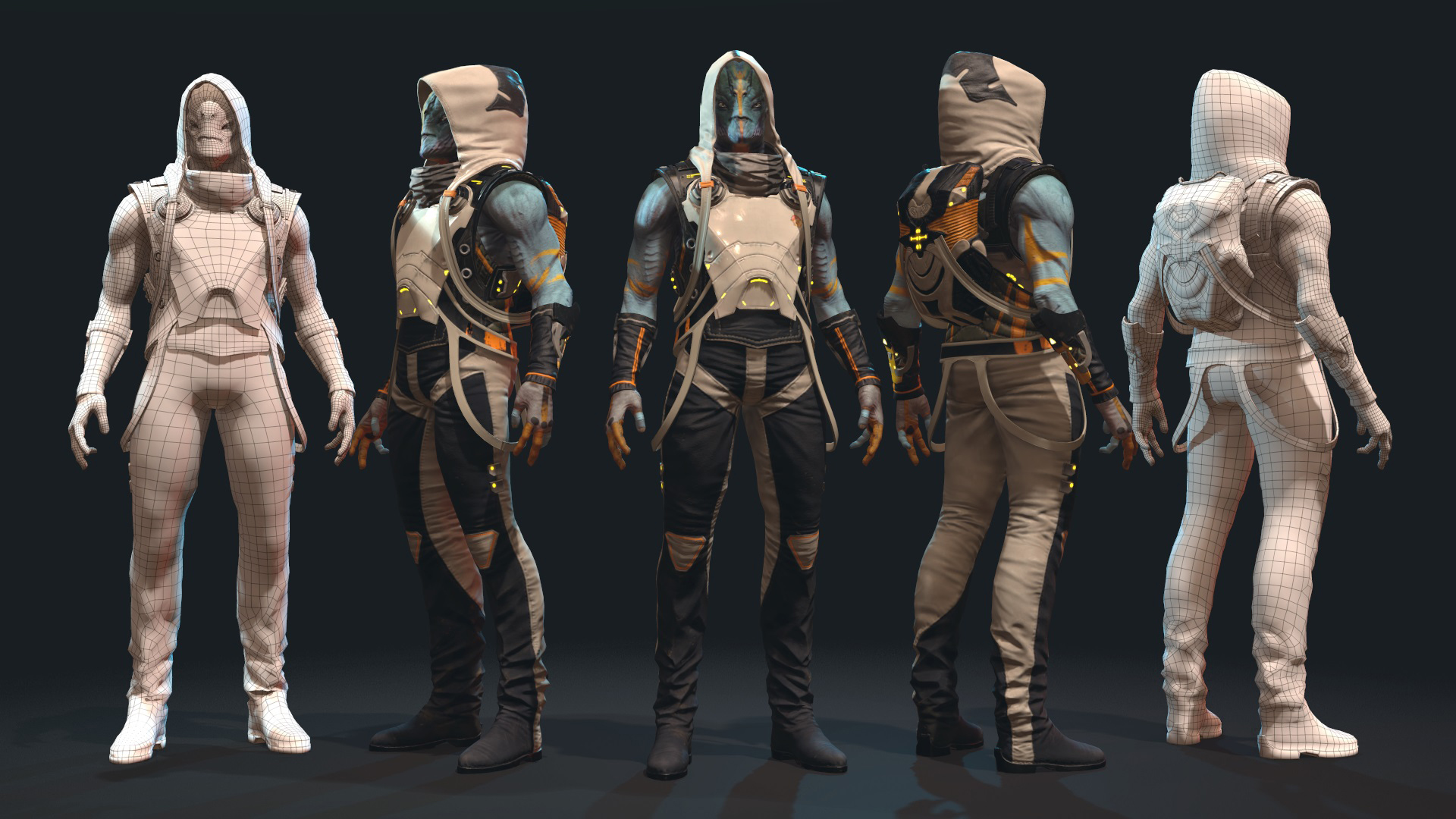 Sci-fi 3D Character: The Alien