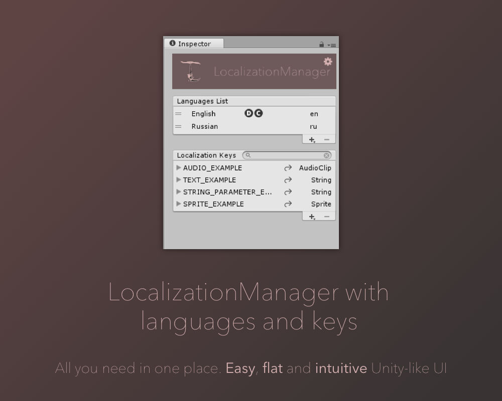 TinyLocalization 2. Just localization. So easy. So comfortable.