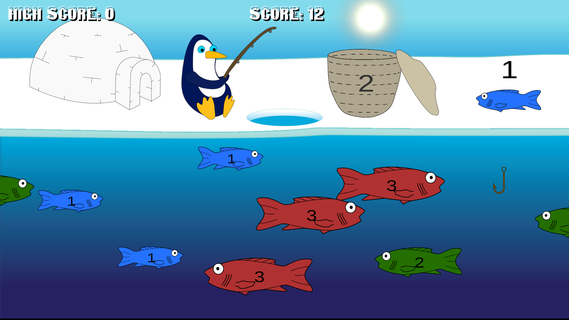 Penguin Addition Fishin' Screenshots
