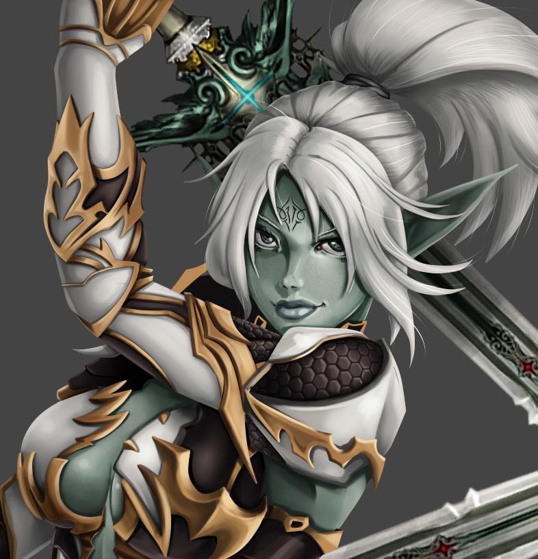 Dark Elft - Lineage 2 - FanArt