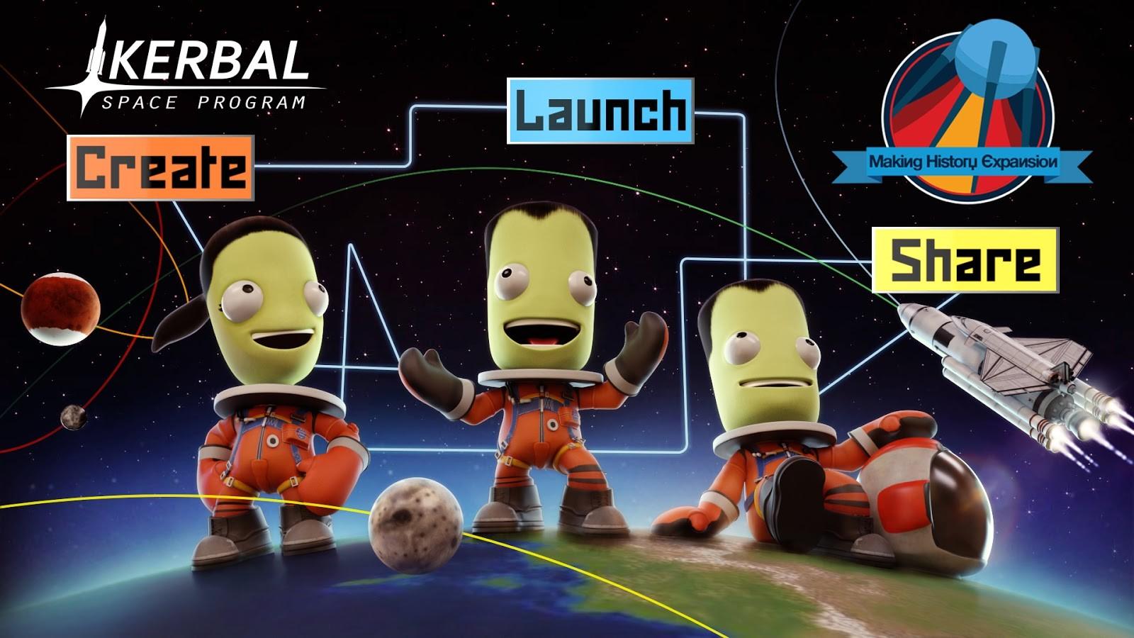 """Kerbal Space Program """"Making History"""" KeyArt"""