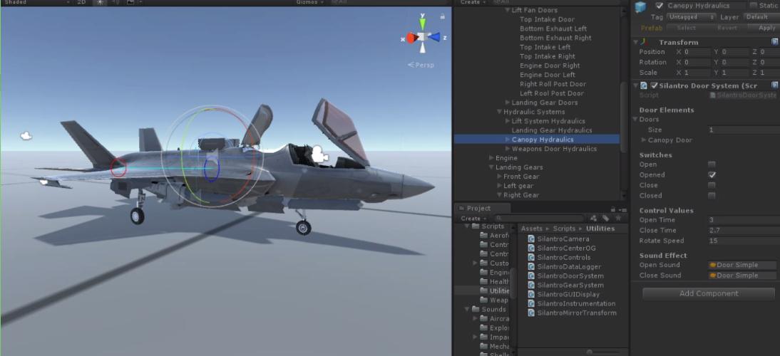 Silantro Flight Simulator: VTOL and STOVL System