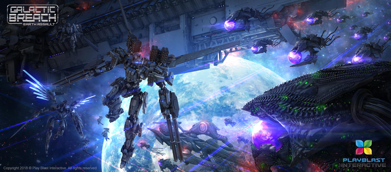 Galactic Breach: Earth Assault. Play Blast Interactive.