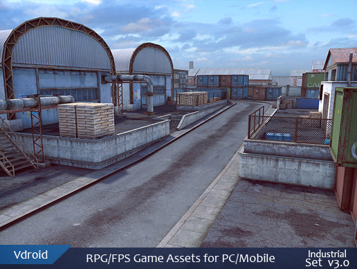 RPG/FPS game assets set v3 industrial (available on assetstore)