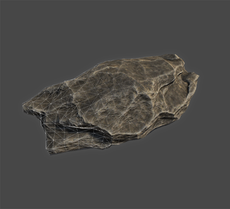 Low Poly PBR Stones & Trees