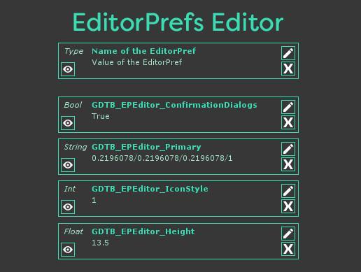 EditorPrefs Editor