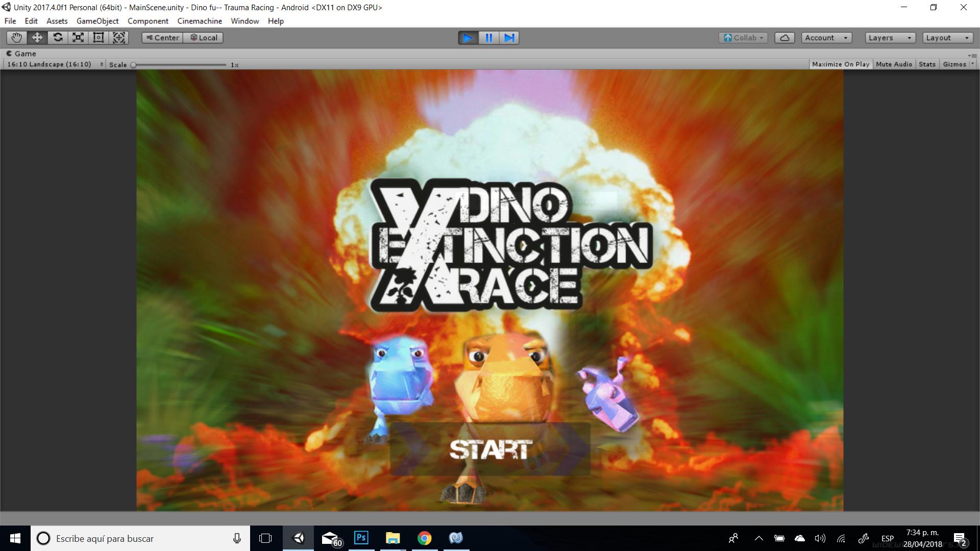 Dino Exctinction Race