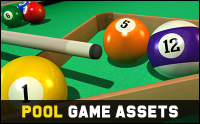 8 Ball Pool Game Assets 3D Pack
