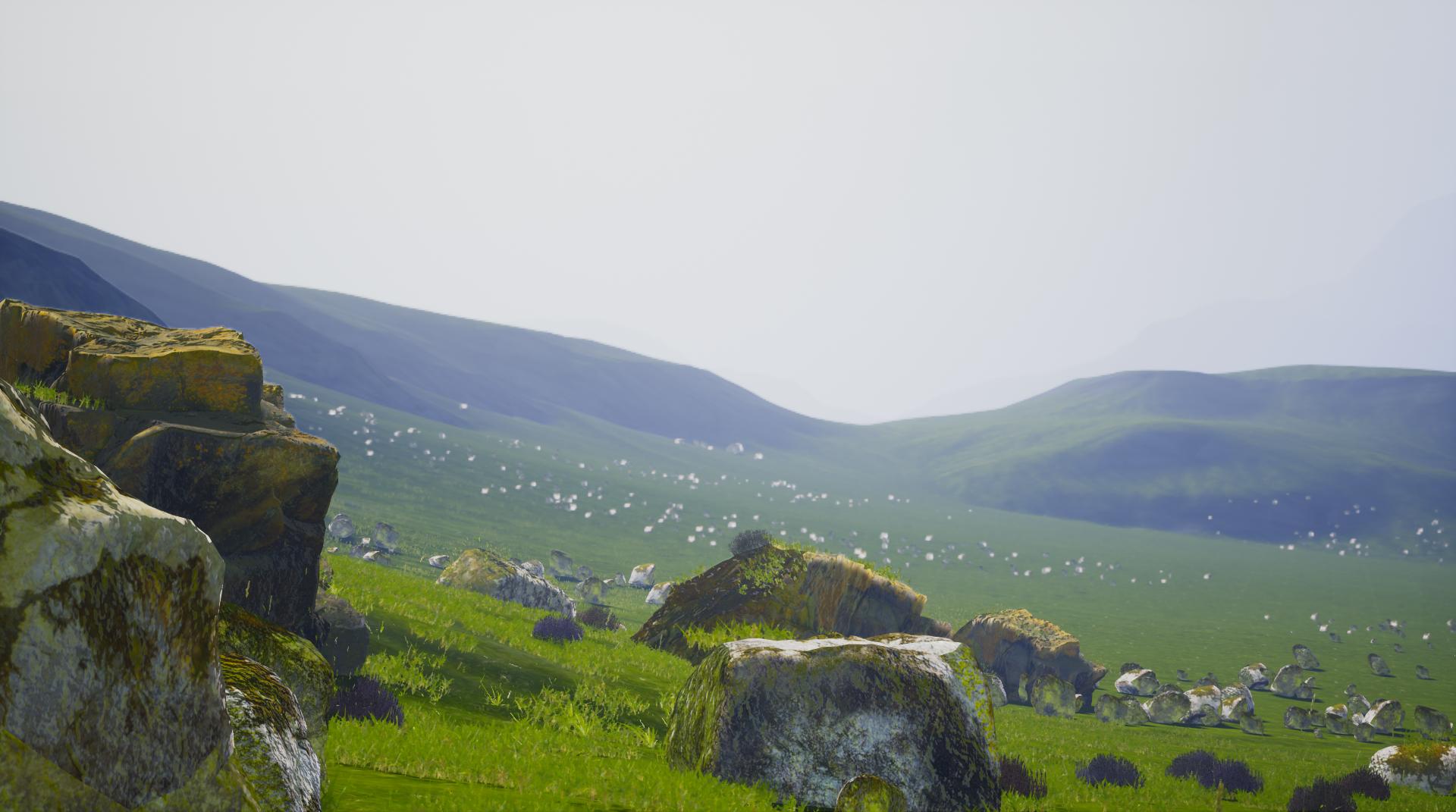 Quixel Megascans environment render