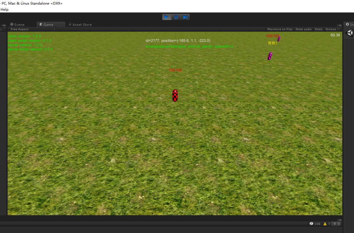 KBEngine游戏服务器(二)——运行Unity的Demo