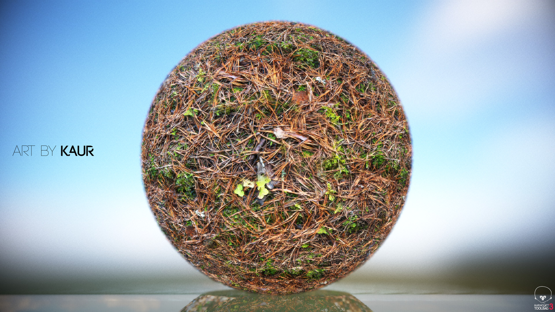 Photoscanned ground texture - Ground with Moss & Pine needles