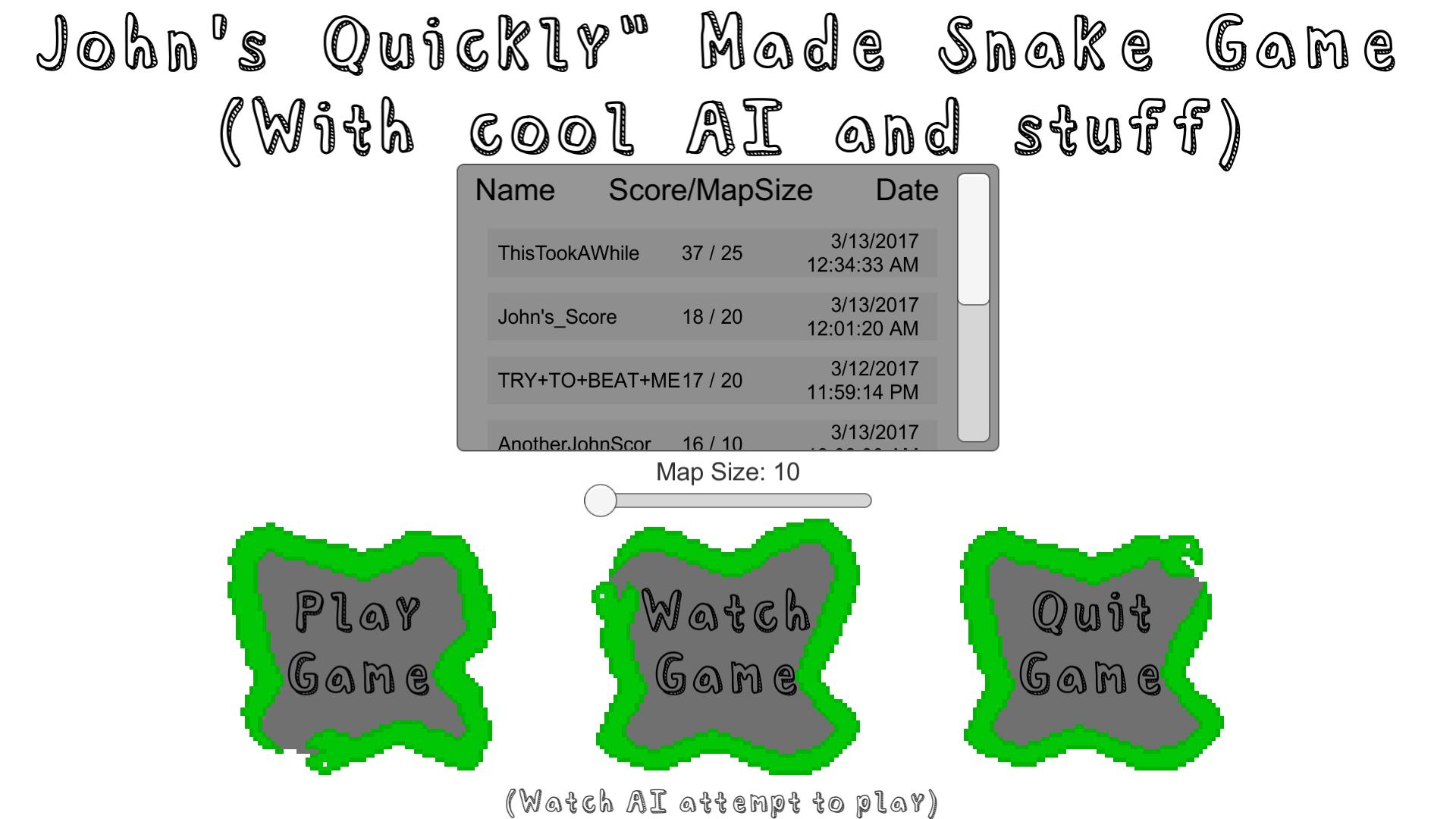 John's Snake Game