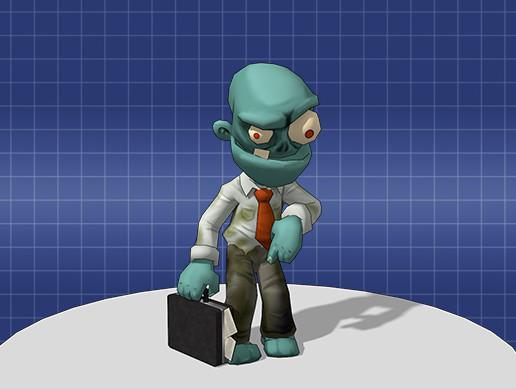 Cartoon Zombie Office Worker